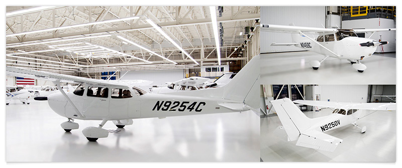 Factory-New Cessna 172s