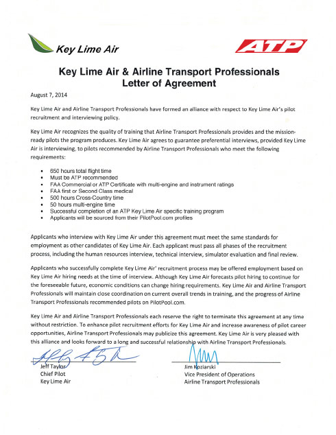 airline pilot hiring partnerships atp flight school