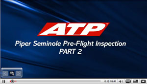 ATP Training Piper Seminole Pre-Flight Checklist Part 2